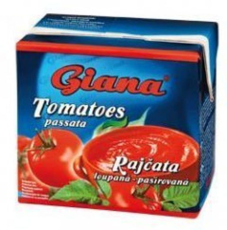 Giana Rajčata loupaná pasírovaná 12 x 500 g