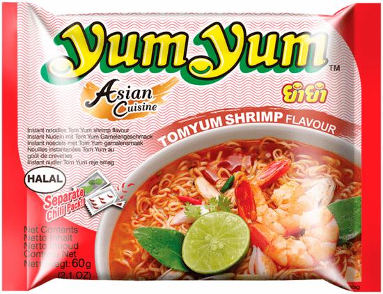 YumYum Instantná rezancová polievka príchuť Tom Yum 30 × 60 g