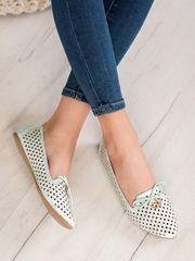 Vinceza Női balerina cipő 63038, zöld árnyalat, 36