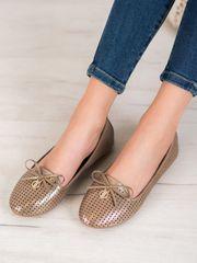 Vinceza Női balerina cipő 63036 + Nőin zokni Gatta Calzino Strech, bézs és barna árnyalat, 36