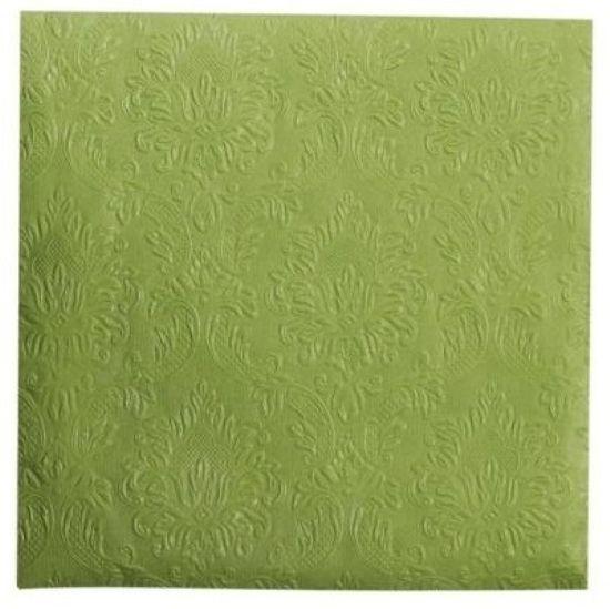 Lene Bjerre Serwetki papierowe UNI, zielone, 33 x 33 cm