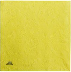 Lene Bjerre Papírové ubrousky UNI žluté, 40 x 40 cm