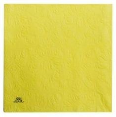 Lene Bjerre Papírové ubrousky UNI, žluté, 33 x 33 cm