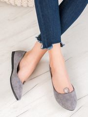 Vinceza Női balerina cipő 63080 + Nőin zokni Gatta Calzino Strech, szürke és ezüst árnyalat, 36