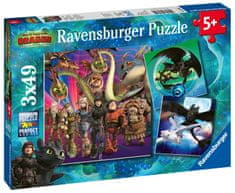 Ravensburger Kako izuriti svojega zmaja, 3 3x49 kosov