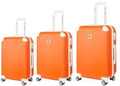 Ornelli White set kovčkov, 20/24/28, 3 kovčki, oranžen (21730)