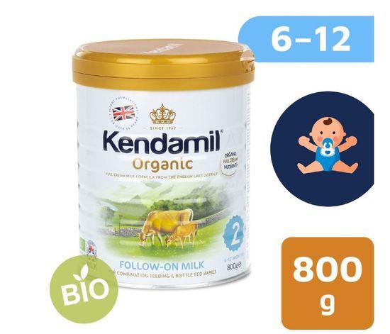 Kendamil pokračovací BIO mléko 2 (6x 800 g) DHA+