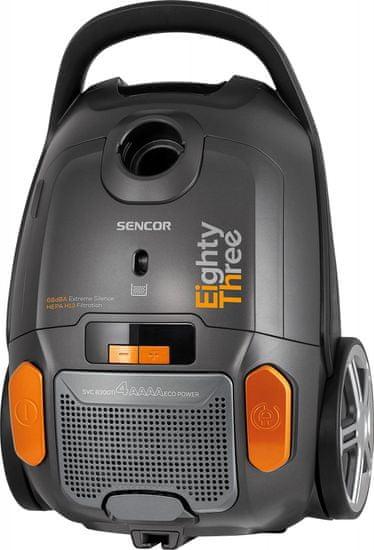 SENCOR sáčkový vysavač SVC 8300TI + 6 let záruka na motor