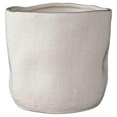 Lene Bjerre Střední keramický obal na květináč ISABEL, bílý 16 x 15 cm