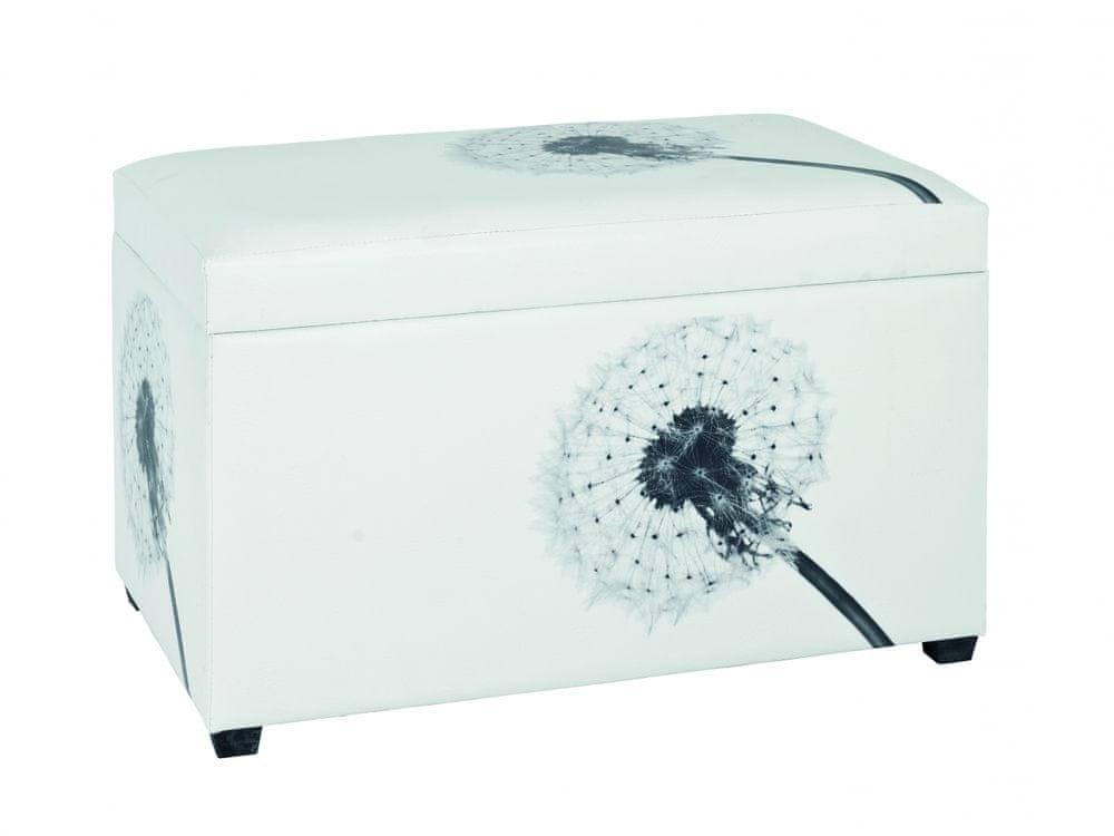 Mørtens Furniture Lavica Danda, 65 cm, biela/čierna