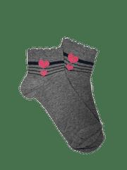 Kotníkové ponožky Srdíčko Barva: Šedé