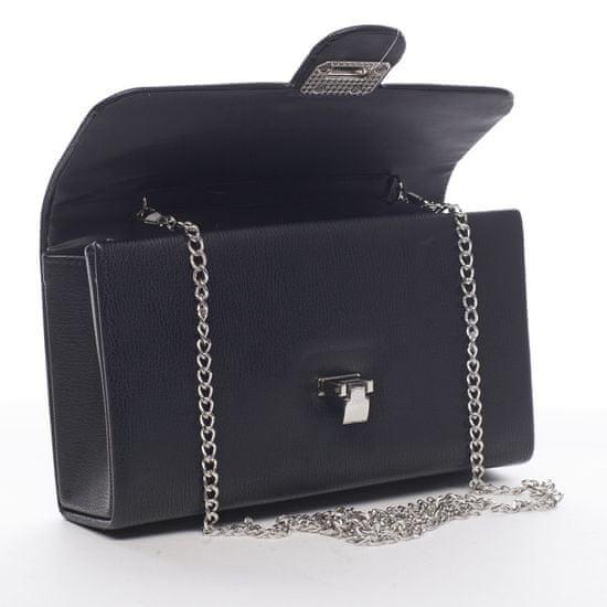 Michelle Moon Priestorná dámska koženková listová kabelka Diane, čierna