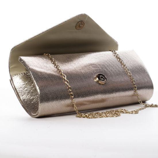 Michelle Moon Krásné dámské psaníčko zdobené kamínky Elisee zlatá