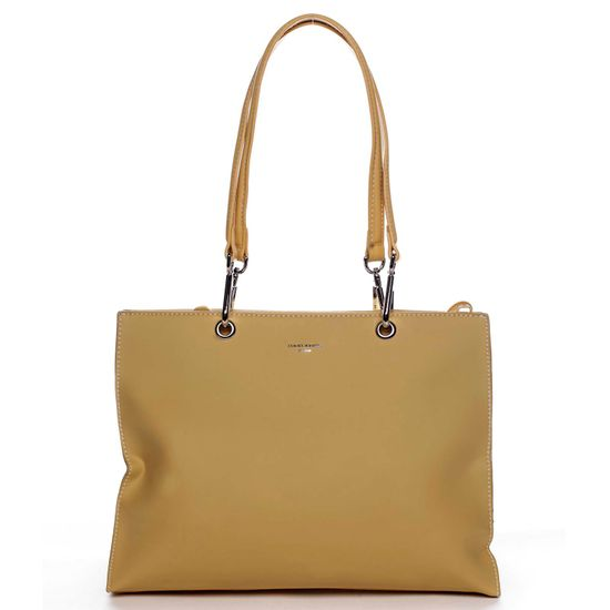 David Jones Veľká praktická dámska koženková taška Arlette žltá