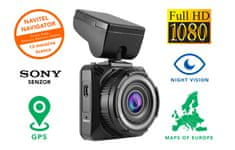 R600 GPS avto kamera, SONY senzor, 1920x1080, Night Vision + navigacijske karte Evrope