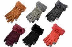 Ženske rokavice za zaslon na dotik - bordo