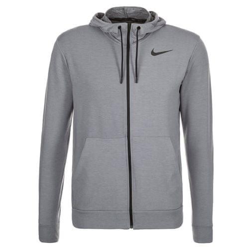 Nike SZKOLENIE DRI-FIT FLEECE FZ HDY, 10   SZKOLENIE MĘŻCZYZN   MĘŻCZYZNA   BLUZKA Z KAPTUREM PEŁNY LS   CHŁODNY SZARY / CZARNY   XL