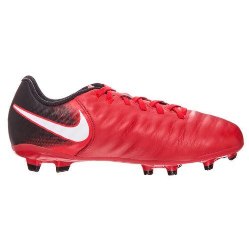 Nike JR TIEMPO LIGERA IV FG, 20. | FABOTBALL / FOCCER | GRD ISKOLA UNSX | LOW TOP | EGYETEM Vörös / Fekete-fekete | 4.5Y