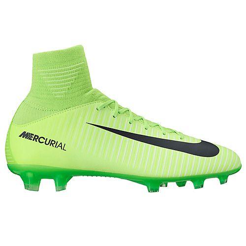 Nike JR MERCURIAL SUPERFLY V FG, 20 | NOGOMET / NOGA | GRD ŠOLA UNSX | VISOK VRH | ELEKTRIČNO ZELENO / ČRNO-FLASH LIM | 4Y