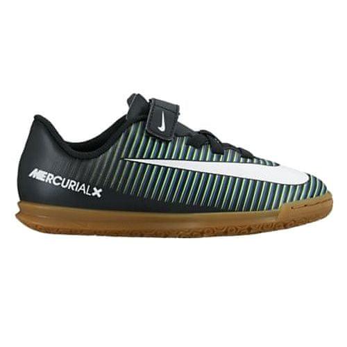 Nike JR MERCURIALX VORTEX 3 (V) IC, 20 | FOOTBALL / SOCCER | PRE ŠOLE UNSX NIZKA VRH | ČRNO / BELO-ELEKTRIČNO ZELENO | 2Y