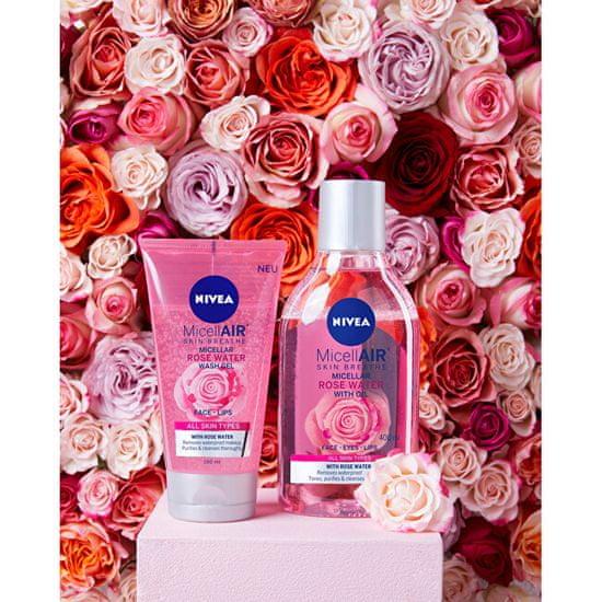 Nivea Micellás gél rózsavízzel (Micellar Rose Water Wash Gel) 150 ml