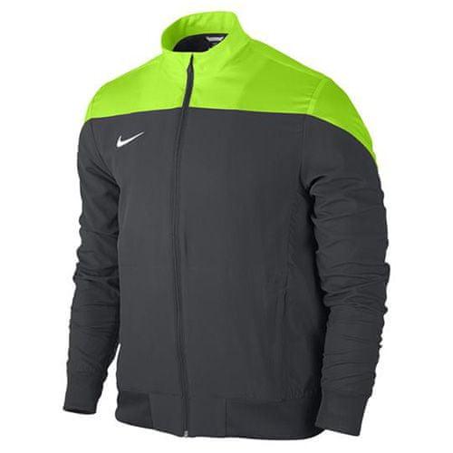 Nike YTH SQUAD14 SDLN WVN JKT, 10. | FABOTBALL / FOCCER | Fiúk | JACKET | ANTRACIT / ELEKTROMOS ZÖLD / FEHÉR | M