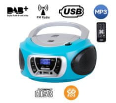 Trevi CMP 510 Boombox, DAB/DAB+, CD predvajalnik, USB, MP3, moder