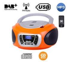 Trevi CMP 510 Boombox, DAB/DAB+, CD predvajalnik, USB, MP3, oranžen