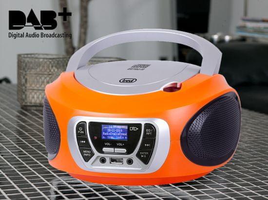 Trevi CMP 510 Boombox, DAB/DAB+, CD predvajalnik, USB, MP3, oranžen - Odprta embalaža