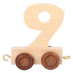 Small foot by Legler Favasúti kocsi - természetes számok - 9. szám, Méret: kb. 5x3x6 cm Kor: 3+ Kérjük, írja meg a kiválasztott számot a rendelési üzenetbe