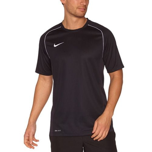 Nike 12. MEGTEKINTETT SS-KÉPZÉS TOP, 10.   FABOTBALL / FOCCER   MENS   RÖVID HÁLÓ FEL   FEKETE / FEHÉR / FEHÉR   VAL VEL