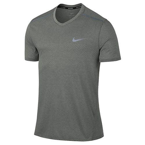 Nike M NK BRTHE TOP SS TAILWIND CLV, 10 | RUNNING | MENS | SHORT SLEEVE TOP | Tumbled GREY / HTR / FLINT GREY | S