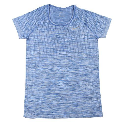 Nike W NK DF KNIT TOP SS, 10   URUCHOMIENIE   KOBIETY   TOP Z KRÓTKIM RĘKAWEM   BLUE JAY / HYDROGEN BLUE   Z