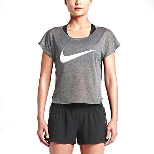 Nike INGYENES COOL SWOOSH SS, 10. | Futás | NŐK | RÖVID HÁLÓ FEL | FEKETE / FEHÉR / VISSZATÉRÍTŐ SZILV | M
