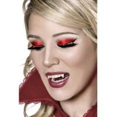 Smiffys Dramatyczne rzęsy z czerwonymi kryształkami, kostiumy halloweenowe