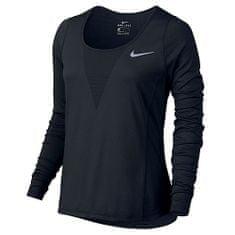 Nike W NK ZNL CL RELAY TOP LS, 10 | RUNNING | ŽENSKE | DOLG SLEEVE TOP | ČRNI | XS