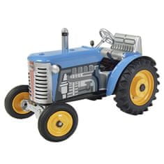 KOVAP Traktor Zetor, modra, rumena kovina. diski