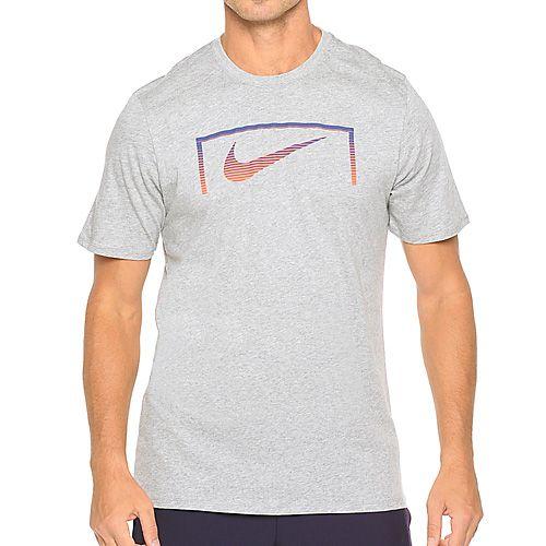 Nike SWOOSH GOAL TEE, 10 | FOOTBALL / SOCCER | MENS | SHORT SLEEVE T-SHIRT | DK GREY HEATHER / DK GREY Heath | 2XL