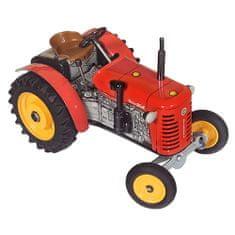 KOVAP Traktor Zetor 25A rdeča za ključno kovino 15cm 1:25, Traktor Zetor 25A rdeča za ključno kovino 15cm 1:25