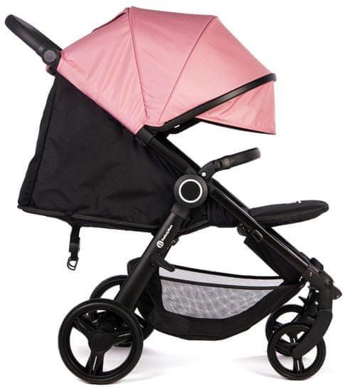 Petite&Mars Stříška + polstrování Street+ Rose Pink 2020 - rozbaleno