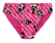 """SETINO Dekliške hlače za kopalke """"LOL"""" - temno roza - 98 / 2–3 leta"""