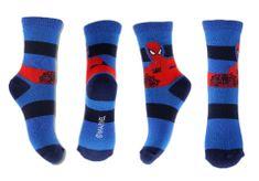 """SETINO Wysokie skarpety chłopięce """"Spiderman - paski"""" - czerwono / niebieski - 23–26"""