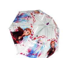 """SETINO Mechanický dáždnik transparentný """"Frozen"""" - fialová"""