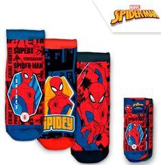 """EUROSWAN Fantovske nogavice """"Spiderman"""" - 3 kos v paketu - 35–37"""