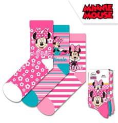 """EUROSWAN Dekliške visoke nogavice """"Minnie Mouse"""" - 3 kos v paketu roza - 19–22"""
