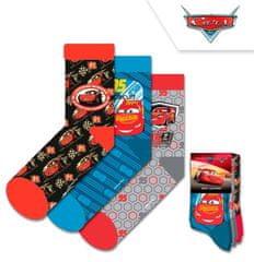 """EUROSWAN Chlapecké vysoké ponožky """"Blesk McQueen"""" - 3ks v balení - 27–30"""