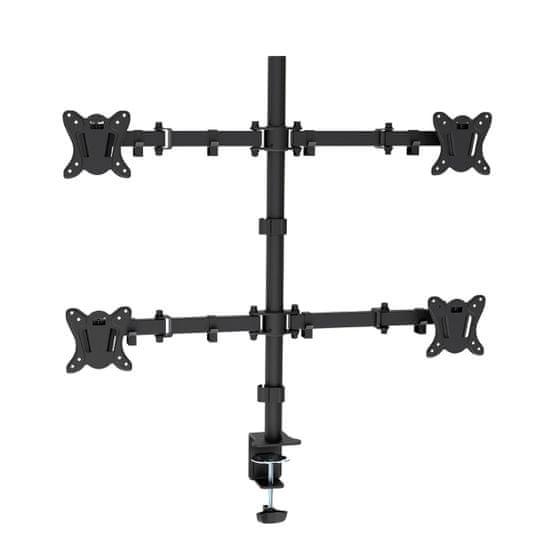 Omega OUPC048F namizni nosilec za štiri monitorje, 33,02cm (13) - 68,58cm (27), vrtljiv v vse smeri