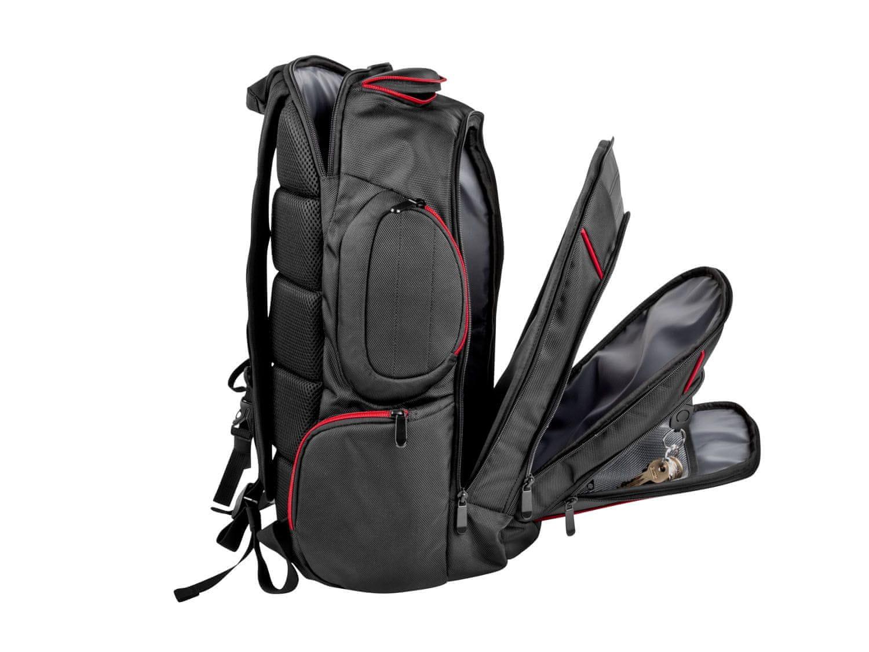 Genesis Pallada 500 batoh pre herné 15,6 / 17,3 notebooky (NBG-0986) polstrovaný chrbát a ramenné popruhy nepremokavý batoh na notebook