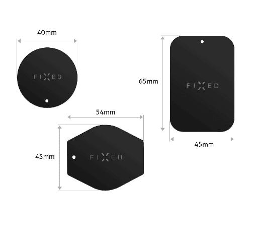 FIXED Sada magnetických plieškov ICON Plates, čierna (FIXIC-PL-BK)