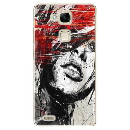 iSaprio Plastikowa obudowa - Sketch Face na Huawei Ascend Mate 7